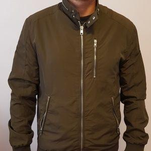 Mens H&M dark green bomber jacket